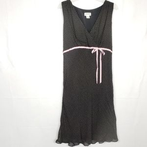 Motherhood Maternity Micro Polka Dot Dress Size L